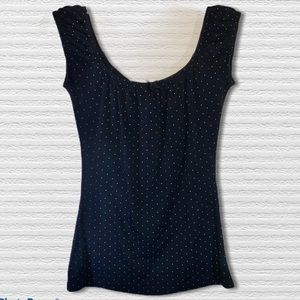 Black Polka Dots Off The Shoulder Blouse